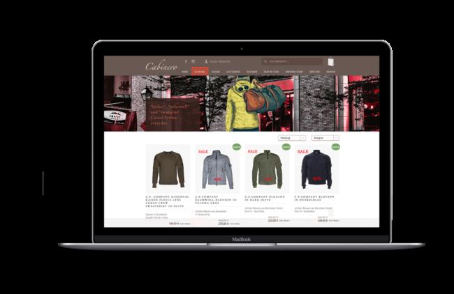 Screenshot von Cabinero (Performance-Optimierung eines WooCommerce-Shops mit einer Reduzierung der Ladezeit von 3,34s auf 0,58s.)