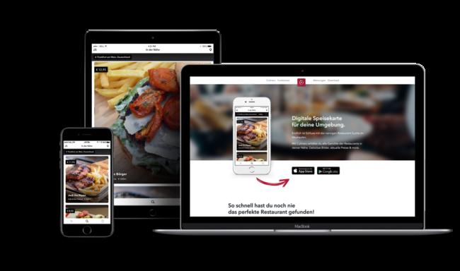 Screenshot von Culinaru (Restaurant-App für iOS und Android inklusive Laravel-Backend, Self-Service-Portal und App-Landingpage)