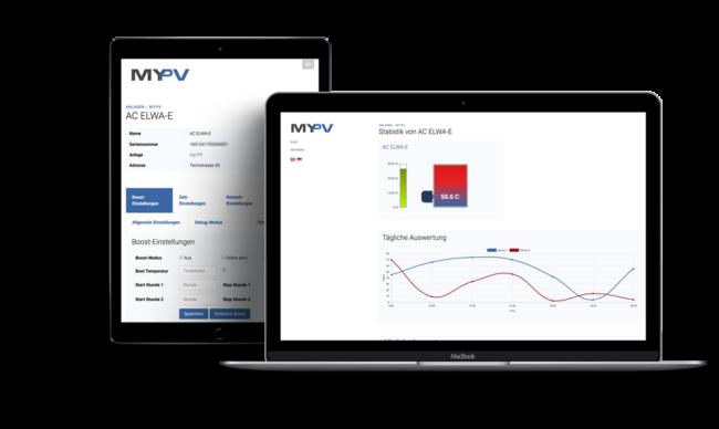 Screenshot von My-PV (Cloud-Lösung zur Verwaltung, Konfiguration und Auswertung von PV-Anlagen)