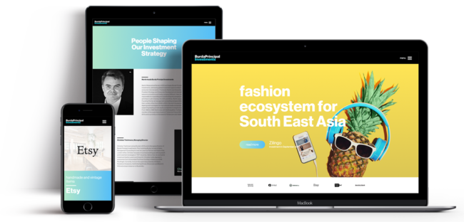Screenshot von Burda Principles Investments (Entwicklung eines individuellen Themes und eigener Visual Composer Elemente für maximale Flexibilität beim Verwalten der Inhalte.)